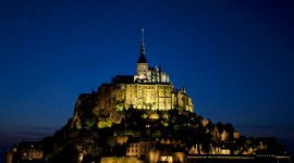 Twilight over Mont St. Michel, Normandy, France