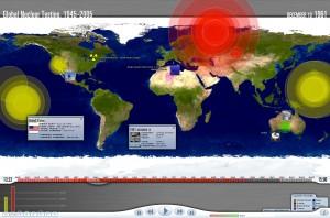 Global Nuclear Testing, 1945-2005, interface screenshot