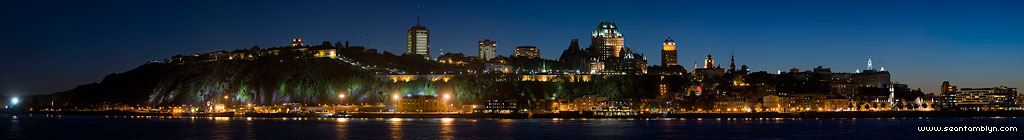 Quebec city skyline high resolution panorama, Quebec City, Quebec