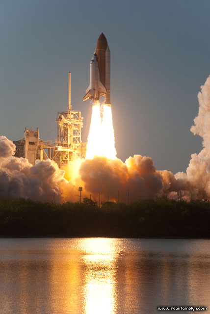 STS-133 launch of space shuttle Discovery