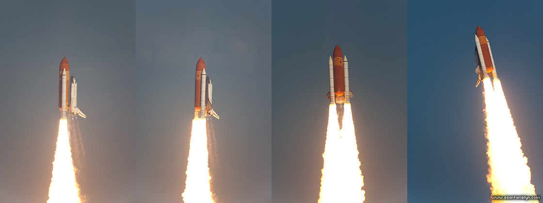 STS-133 final launch of space shuttle Discovery roll program