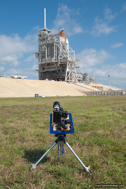 Remote launch pad camera, STS-134, final launch of space shuttle Endeavour