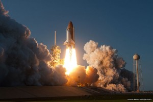 STS-133 final launch of space shuttle Discovery
