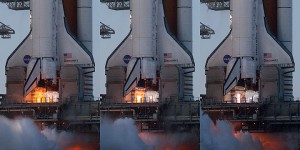 STS-133 space shuttle Discovery SSME ignition and stabilization sequence