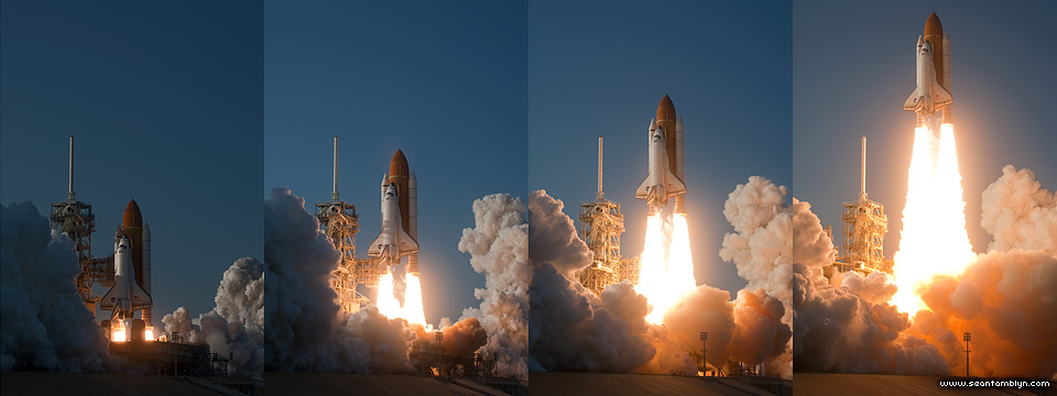 STS-133 space shuttle Discovery launch sequence