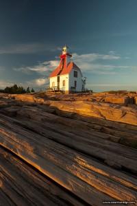 Lighthouse at Sunset, Snug Harbour, Georgian Bay