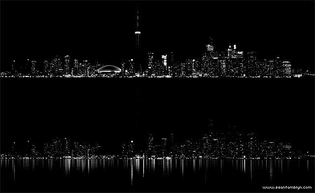 Luminosity comparison of Toronto's Earth Hour 2012