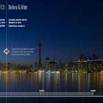 Toronto Earth Hour 2012 Before &amp; After screenshot, Visual Application Development