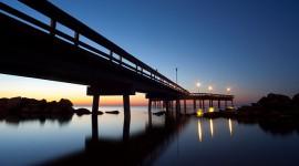 Sunrise twilight over pier, Centre Island, Toronto Islands
