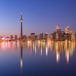 Toronto skyline at night panorama, Centre Island, Toronto Islands
