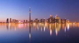 Toronto skyline at night panorama, Centre Island, Toronto Islands