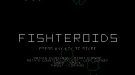 Fishteroids! title screen shot, Sean Tamblyn visual application development
