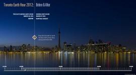 Toronto Earth Hour 2012 Before & After screenshot, Visual Application Development